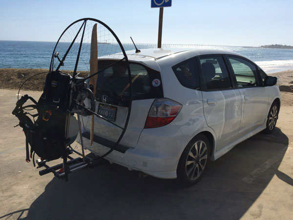 How to transport a paramotor